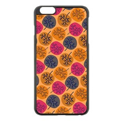Colorful Trees Background Pattern Apple Iphone 6 Plus/6s Plus Black Enamel Case by Simbadda