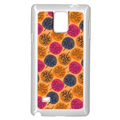 Colorful Trees Background Pattern Samsung Galaxy Note 4 Case (white) by Simbadda