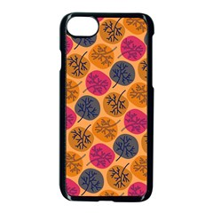 Colorful Trees Background Pattern Apple Iphone 7 Seamless Case (black)