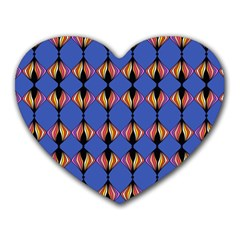 Abstract Lines Seamless Pattern Heart Mousepads by Simbadda