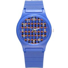 Abstract Lines Seamless Pattern Round Plastic Sport Watch (s)