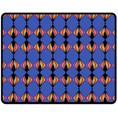 Abstract Lines Seamless Pattern Double Sided Fleece Blanket (medium)