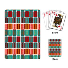 Bricks Abstract Seamless Pattern Playing Card by Simbadda