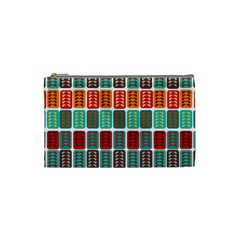Bricks Abstract Seamless Pattern Cosmetic Bag (small)  by Simbadda