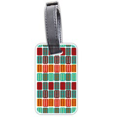 Bricks Abstract Seamless Pattern Luggage Tags (two Sides)