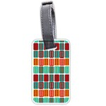 Bricks Abstract Seamless Pattern Luggage Tags (Two Sides) Front