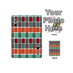 Bricks Abstract Seamless Pattern Playing Cards 54 (mini)