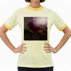 Evil Moon Dark Background With An Abstract Moonlit Landscape Women s Fitted Ringer T Shirts