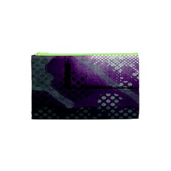 Evil Moon Dark Background With An Abstract Moonlit Landscape Cosmetic Bag (xs)