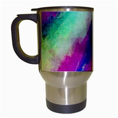 Colorful Abstract Paint Splats Background Travel Mugs (white) by Simbadda