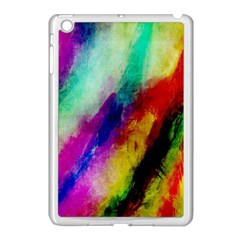 Colorful Abstract Paint Splats Background Apple Ipad Mini Case (white) by Simbadda