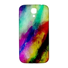 Colorful Abstract Paint Splats Background Samsung Galaxy S4 I9500/i9505  Hardshell Back Case by Simbadda