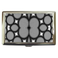 Mirror Of Black And White Fractal Texture Cigarette Money Cases by Simbadda