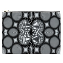 Mirror Of Black And White Fractal Texture Cosmetic Bag (xxl)  by Simbadda