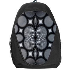 Mirror Of Black And White Fractal Texture Backpack Bag by Simbadda