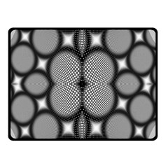 Mirror Of Black And White Fractal Texture Double Sided Fleece Blanket (small)  by Simbadda