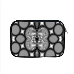 Mirror Of Black And White Fractal Texture Apple Macbook Pro 15  Zipper Case