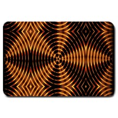 Fractal Pattern Of Fire Color Large Doormat  by Simbadda