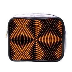 Fractal Pattern Of Fire Color Mini Toiletries Bags by Simbadda
