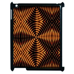 Fractal Pattern Of Fire Color Apple Ipad 2 Case (black) by Simbadda