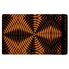 Fractal Pattern Of Fire Color Apple Ipad 2 Flip Case by Simbadda