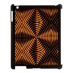 Fractal Pattern Of Fire Color Apple Ipad 3/4 Case (black) by Simbadda