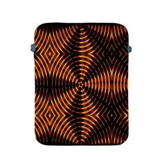 Fractal Pattern Of Fire Color Apple Ipad 2/3/4 Protective Soft Cases by Simbadda