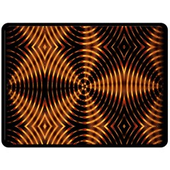 Fractal Pattern Of Fire Color Double Sided Fleece Blanket (large)