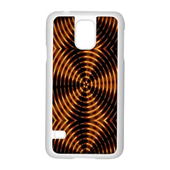 Fractal Pattern Of Fire Color Samsung Galaxy S5 Case (white)