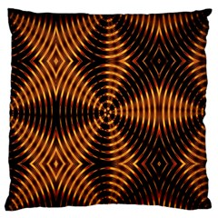 Fractal Pattern Of Fire Color Large Flano Cushion Case (two Sides)
