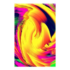 Stormy Yellow Wave Abstract Paintwork Shower Curtain 48  X 72  (small)  by Simbadda