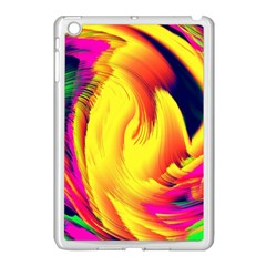 Stormy Yellow Wave Abstract Paintwork Apple Ipad Mini Case (white) by Simbadda