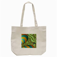 Gold Blue Fractal Worms Background Tote Bag (cream) by Simbadda