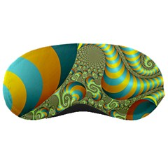 Gold Blue Fractal Worms Background Sleeping Masks