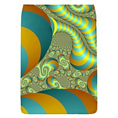 Gold Blue Fractal Worms Background Flap Covers (s)