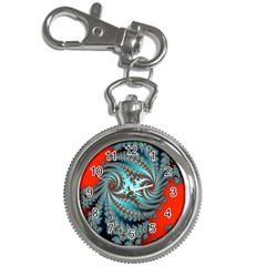 Digital Fractal Pattern Key Chain Watches by Simbadda