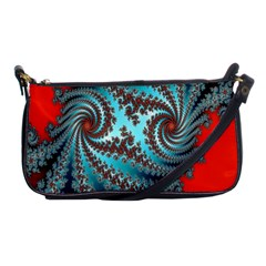Digital Fractal Pattern Shoulder Clutch Bags