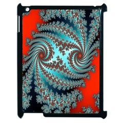 Digital Fractal Pattern Apple Ipad 2 Case (black) by Simbadda