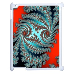 Digital Fractal Pattern Apple Ipad 2 Case (white) by Simbadda