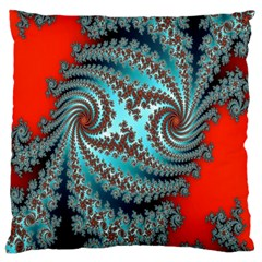Digital Fractal Pattern Large Flano Cushion Case (two Sides)
