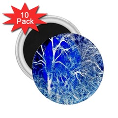 Winter Blue Moon Fractal Forest Background 2 25  Magnets (10 Pack)  by Simbadda