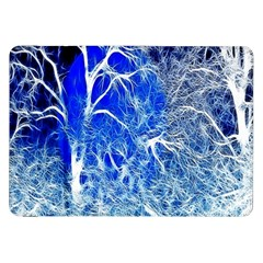 Winter Blue Moon Fractal Forest Background Samsung Galaxy Tab 8 9  P7300 Flip Case by Simbadda