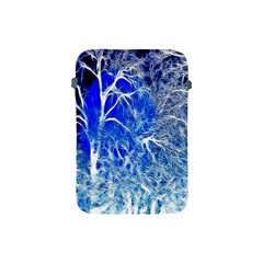 Winter Blue Moon Fractal Forest Background Apple Ipad Mini Protective Soft Cases by Simbadda