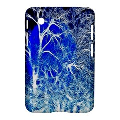 Winter Blue Moon Fractal Forest Background Samsung Galaxy Tab 2 (7 ) P3100 Hardshell Case  by Simbadda