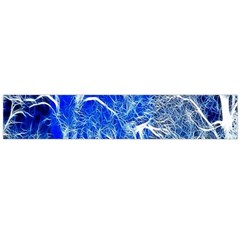 Winter Blue Moon Fractal Forest Background Flano Scarf (large) by Simbadda