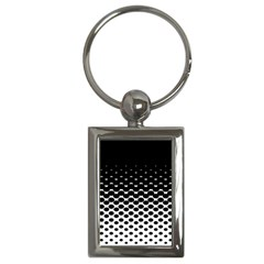 Halftone Gradient Pattern Key Chains (rectangle)  by Simbadda