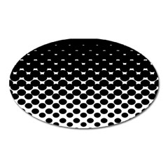 Halftone Gradient Pattern Oval Magnet by Simbadda