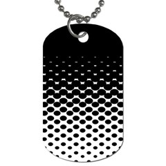 Halftone Gradient Pattern Dog Tag (two Sides) by Simbadda