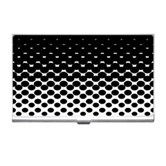 Halftone Gradient Pattern Business Card Holders by Simbadda