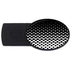 Halftone Gradient Pattern Usb Flash Drive Oval (4 Gb)